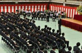 高校入学式での高校自治会長祝辞