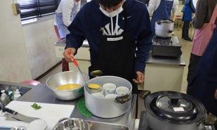 茶碗蒸しで卵の凝固性を実験