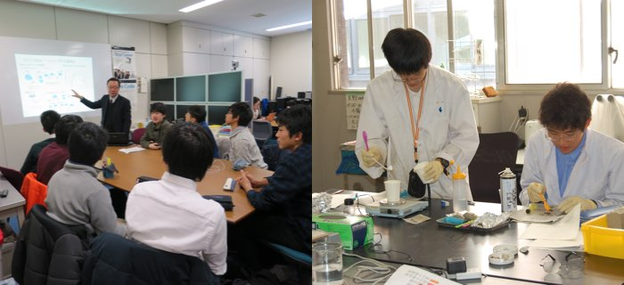 Laboratory visit in University of Tsukuba